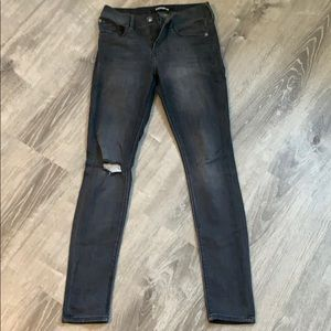 Dark Gray Express Mid Rise Jeans